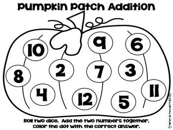 Falling Into Fall {Roll the Dice Addition and Subtraction FREEBIE}