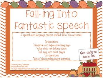 Falling Into Fantastic Speech - speech and language activi