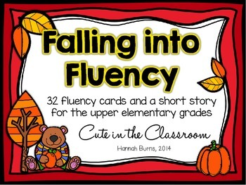 Falling Into Fluency - Autumn Themed Fluency Practice for