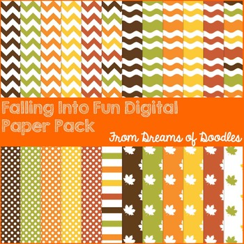 Falling Into Fun Digital Paper Pack