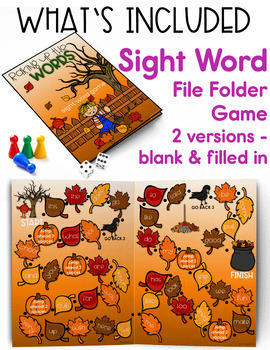 Fall Word Work, Reading, Writing and a Craft - Falling Into Literacy