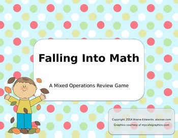 Falling Into Math-Mixed Operations Review
