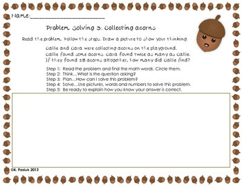 Falling Into Math-Problem Solving activities for grades 1 and 2