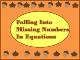 Falling Into Missing Number Equations