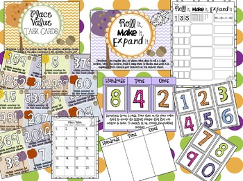 FALLing Into Place Value: Autumn Themed Centers, Scoot, and MORE!
