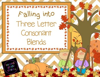 Three Letter Consonant Blends (Fall Theme)