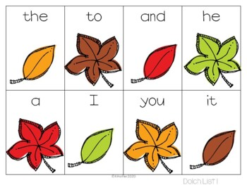 Falling Leaves {A Differentiated Leaf Sight Word Game}