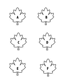 Falling Leaves Alphabet Order