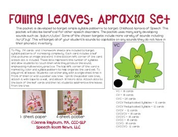 Falling Leaves: Apraxia Activities
