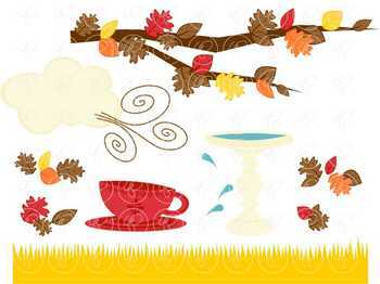 Falling Leaves Story Elements Clipart by Poppydreamz