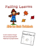 Falling Leaves Autumn Music Worksheets