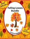 Fall Math and Literacy Activities BUNDLE File Folder Games Cut & Paste Activity
