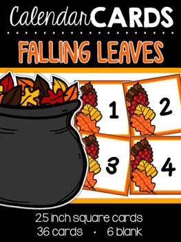 Falling Leaves Calendar Cards