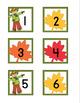 Falling Leaves Calendar Numbers