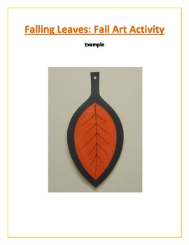 Falling Leaves: Fall Art Activity