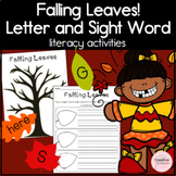 Fall Letter and Sight Word Literacy Centers for Kindergarten