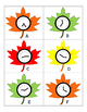 Falling Leaves Math - Telling Time