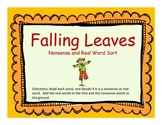 Falling Leaves- Nonsense and Real Word Sort