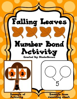 Falling Leaves Number Bond Center!  Fall Theme!