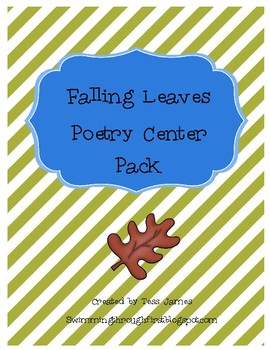 Falling Leaves Poetry Center Pack