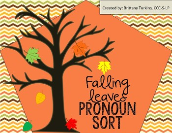 Falling Leaves Pronoun Sort