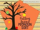 Falling Leaves Pronoun Sort