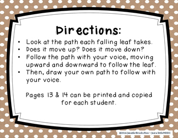 Falling Leaves Vocal Exploration Slides and Worksheets
