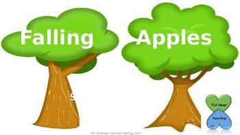 Falling Letter Apples
