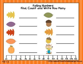 Falling Numbers Write The Room-Differentiated and Aligned to Common Core