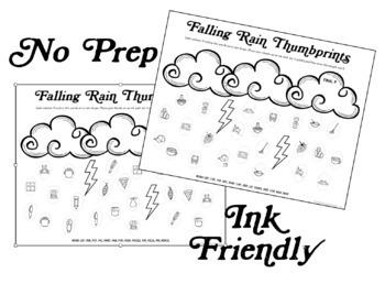 Falling Rain Thumbprints: A SpeechTherapy Craft Activity