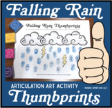 Falling Rain Thumbprints: A SpeechTherapy Craft Activity