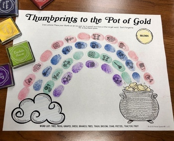 Thumbprints to the Pot of Gold: A Speech Therapy Art Activity