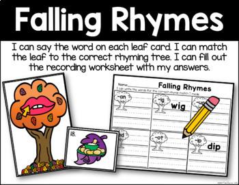 Falling Rhymes - Rhyming Word Identification