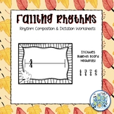 Falling Rhythms - Rhythm Composition & Dictation Worksheets