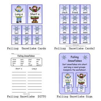 Falling Snowflakes (Short and Long e Sorting)