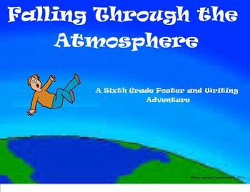 Falling Through the Atmosphere - A 6th Grade Poster and Wr