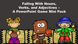 Falling With Nouns, Verbs, and Adjectives - A PowerPoint Game Mini Pack Bundle