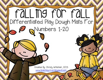 Falling fo Fall: Differentiated Play Dough Mats for Numbers 1-20
