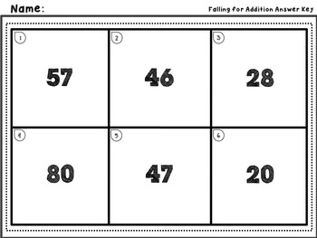 Falling for Addition - Adding to a Two Digit Number