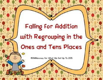 Falling for Addition with Regrouping in the Ones and Tens Places