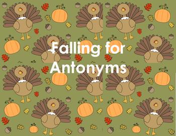 Falling for Antonyms Literacy Center