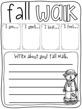 Fall Activities for First Graders