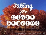 Falling for Close Reading (September, October and November close reads)
