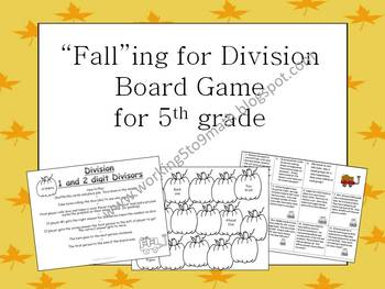 """""""Fall""""ing for Division Board Game"""