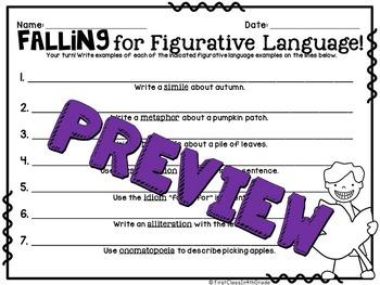 Falling for Figurative Language (Autumn Literary Device Unit)