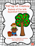 Falling for Fractions~Apple Themed Equivalent Fraction Hands on Activity
