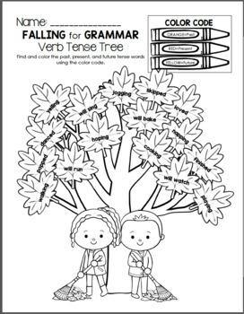 Falling for Grammar - Past, Present, & Future Verb Tense
