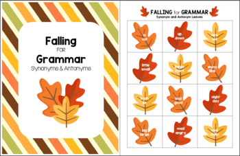 Falling for Grammar - Synonym and Antonym Pack