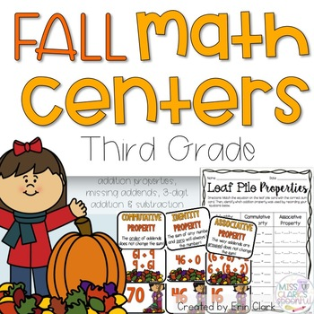 Falling for Math! 4 Math Centers for the Autumn Months