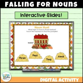 Falling for Nouns SMARTboard Lesson